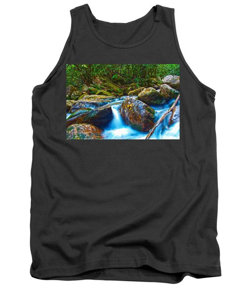 Tank Top featuring the photograph Mountain Streams by Alex Grichenko