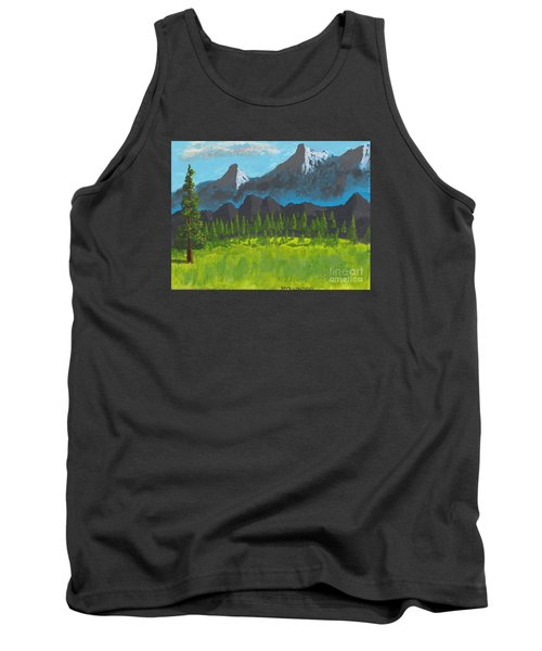 Tank Top featuring the painting Mountain Vista by David Jackson