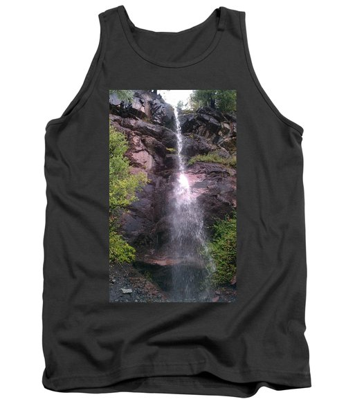 Tank Top featuring the photograph Mountain Waterfall by Fortunate Findings Shirley Dickerson