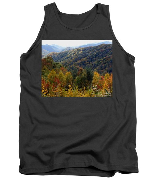 Mountains Leaves Tank Top