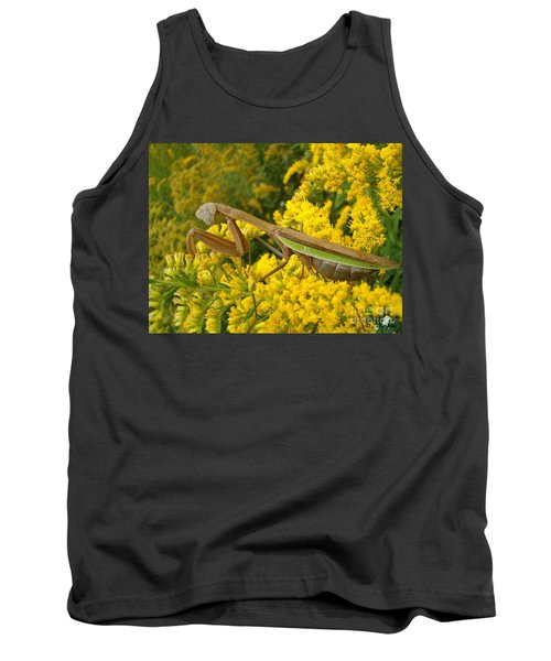 Tank Top featuring the photograph Mr. Mantis by Sara  Raber