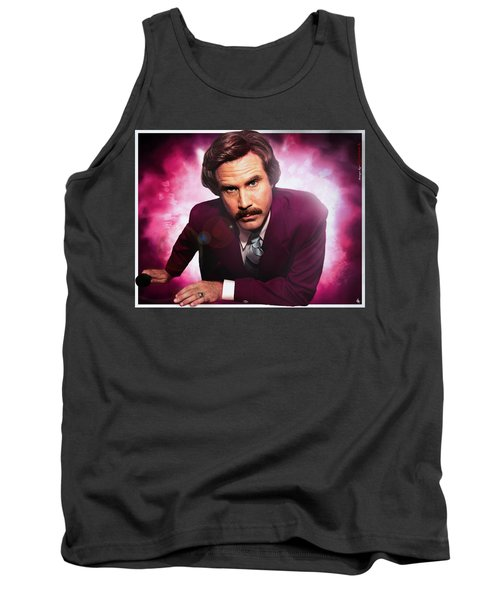 Mr. Ron Mr. Ron Burgundy From Anchorman Tank Top