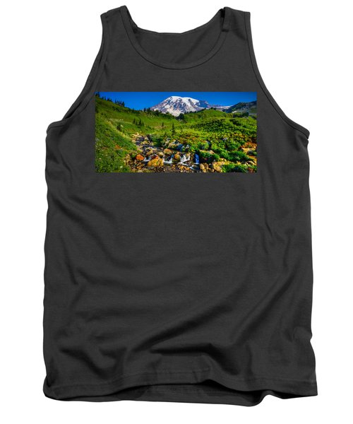 Tank Top featuring the photograph Mt. Rainier Stream by Chris McKenna