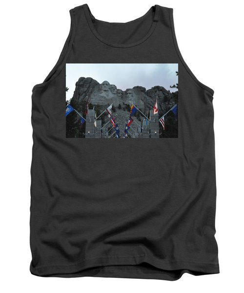 Mt. Rushmore In The Evening Tank Top