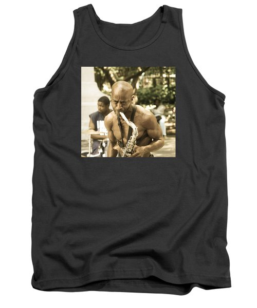 Music In The Park Tank Top by Menachem Ganon
