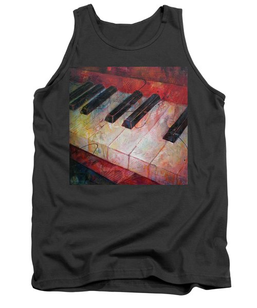 Music Is The Key - Painting Of A Keyboard Tank Top