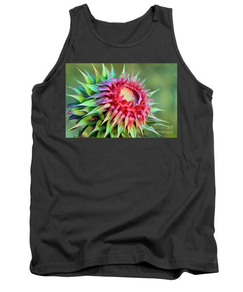 Tank Top featuring the photograph Musk Thistle by Teresa Zieba