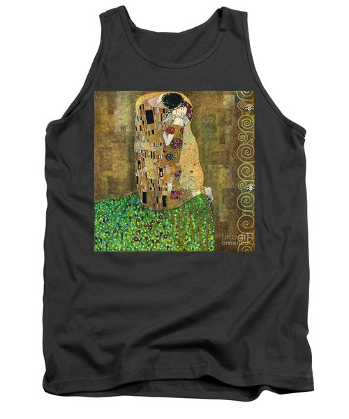 My Acrylic Painting As An Interpretation Of The Famous Artwork Of Gustav Klimt The Kiss - Yakubovich Tank Top