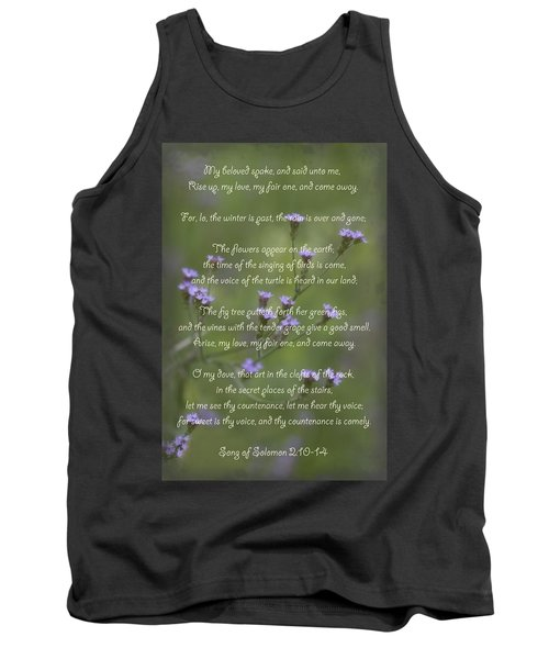 My Beloved Spoke - Purpletop Vervain Verbena Bonariensis Tank Top