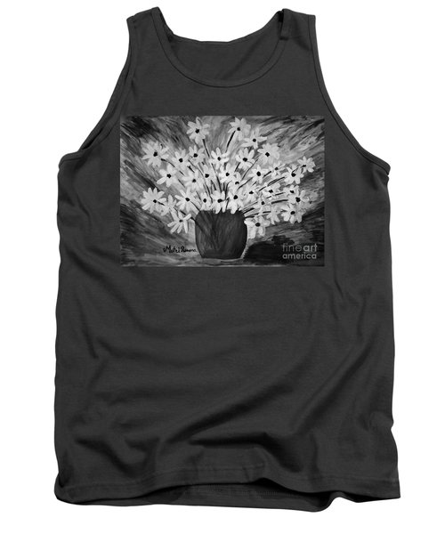 My Daisies Black And White Version Tank Top