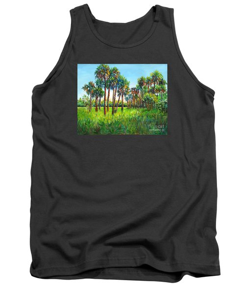 Myakka Palms Tank Top by Lou Ann Bagnall