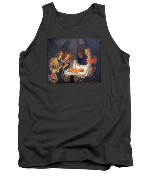 Tank Top featuring the painting Nativity Scene Study by Donna Tucker