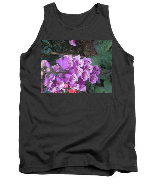 Tank Top featuring the photograph Natural Bouquet Bunch Of Spiritul Purple Flowers by Navin Joshi