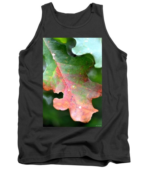 Natural Oak Leaf Abstract Tank Top by Maria Urso