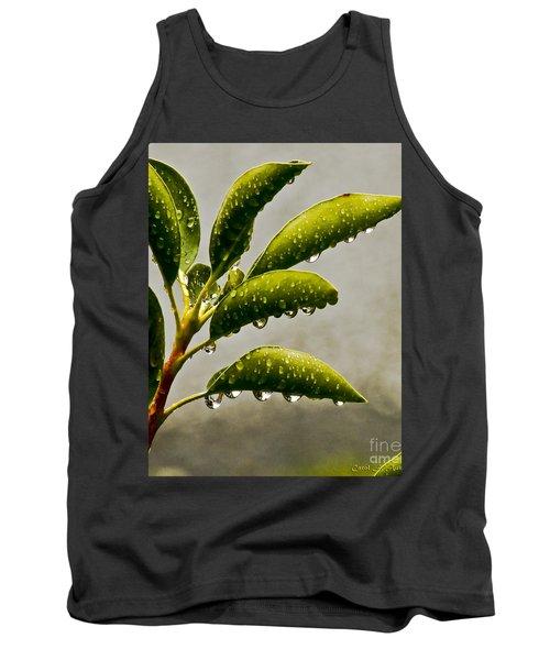 Natures Teardrops Tank Top by Carol F Austin