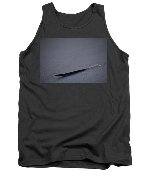 Tank Top featuring the photograph Navarre Beach Solo Bird Feather by Jeff at JSJ Photography