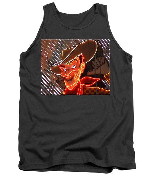 Neon Cowboy Of  Las Vegas Tank Top