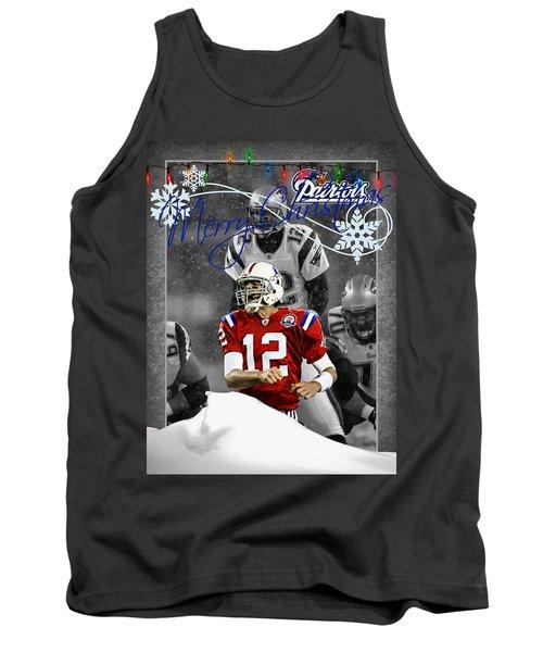 New England Patriots Christmas Card Tank Top