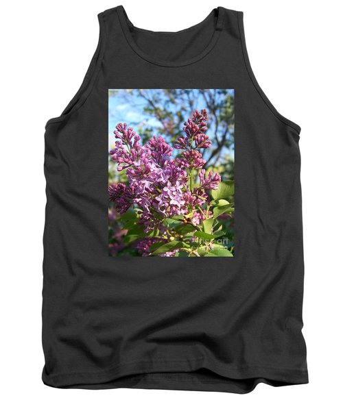 Tank Top featuring the photograph Purple Lilac by Eunice Miller