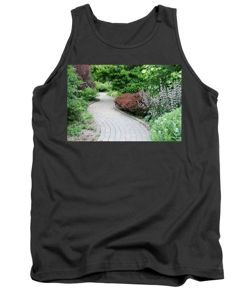 Tank Top featuring the photograph Frelinghuysen Arboretum Path by Richard Bryce and Family