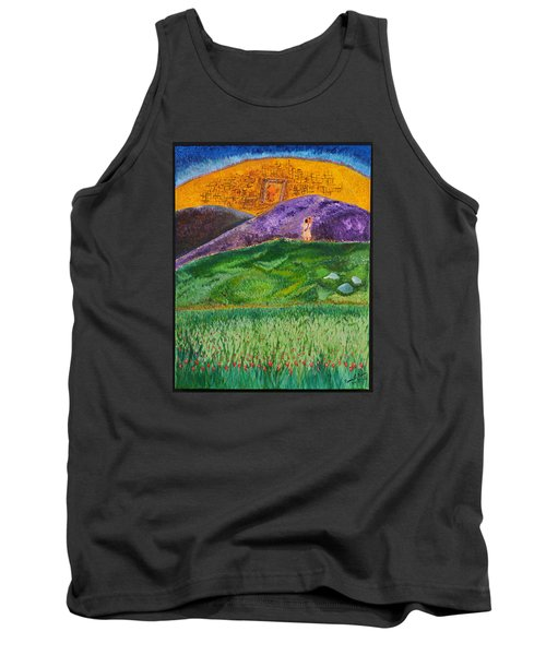 Tank Top featuring the painting New Jerusalem by Cassie Sears