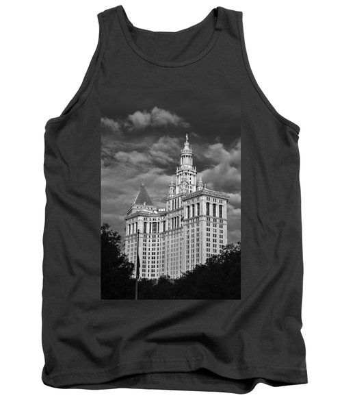 New York Municipal Building - Black And White Tank Top