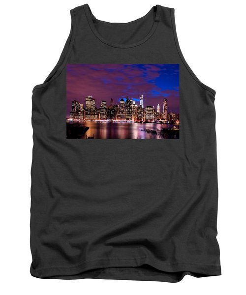 New York Skyline Magic Hour-- From Brooklyn Heights Promenade Tank Top