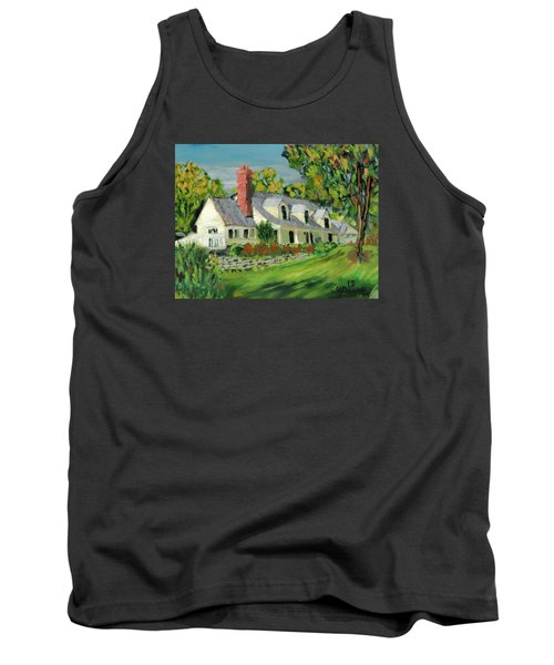 Tank Top featuring the painting Next To The Wooden Duck Inn by Michael Daniels