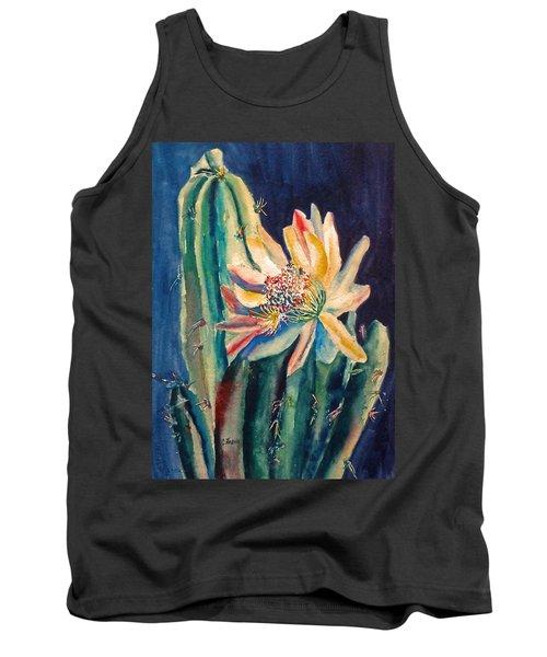 Night Blooming Cactus Tank Top