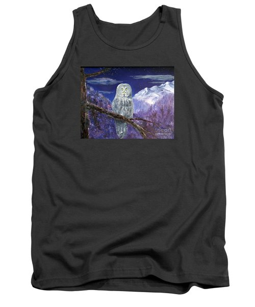 Tank Top featuring the painting Night Hunter by Lee Piper