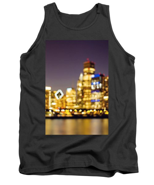 Night Lights - Abstract Chicago Skyline Tank Top