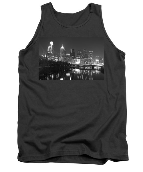 Tank Top featuring the photograph Nighttime In Philadelphia by Alice Gipson