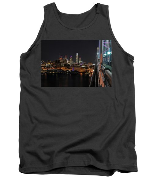 Nighttime Philly From The Ben Franklin Tank Top