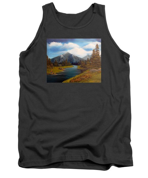 No Electronics Here Tank Top by Sheri Keith