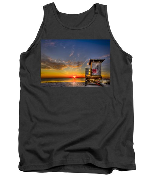 No Life Guard On Duty Tank Top by Marvin Spates