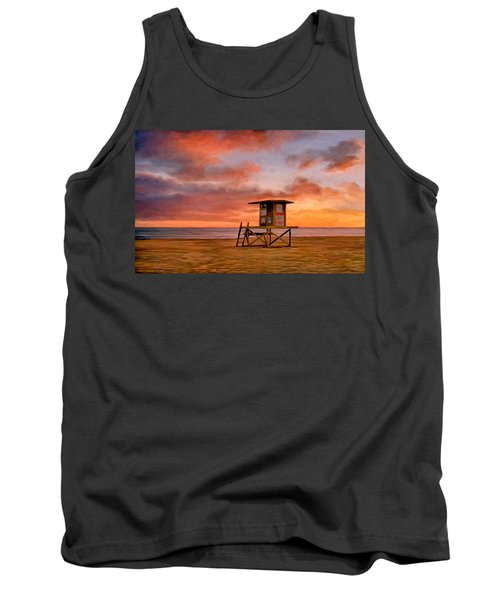 No Lifeguard On Duty At The Wedge Tank Top