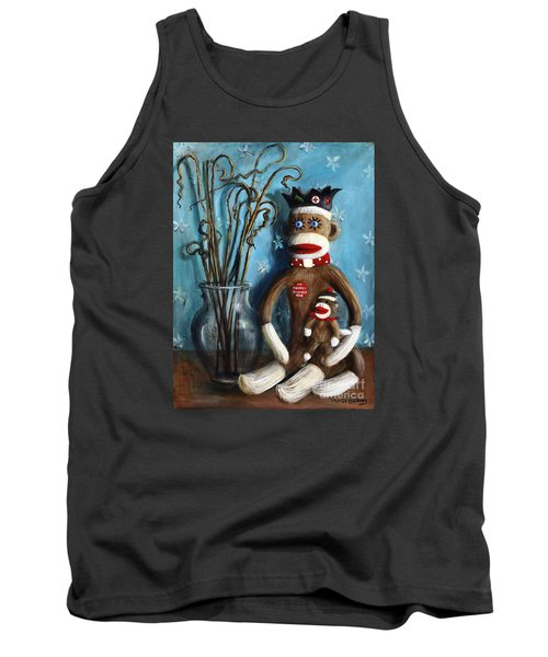 No Monkey Business Here 1 Tank Top by Randy Burns