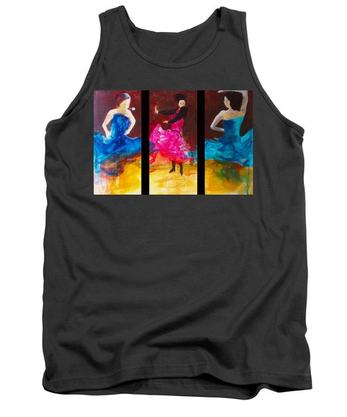 No Volre  Triptych Tank Top by Keith Thue