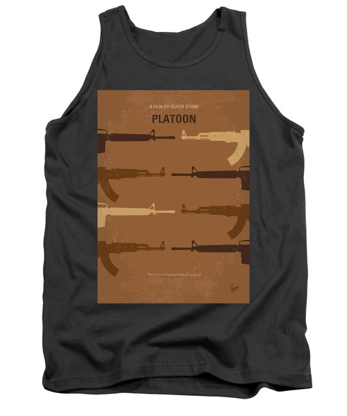 No115 My Platoon Minimal Movie Poster Tank Top