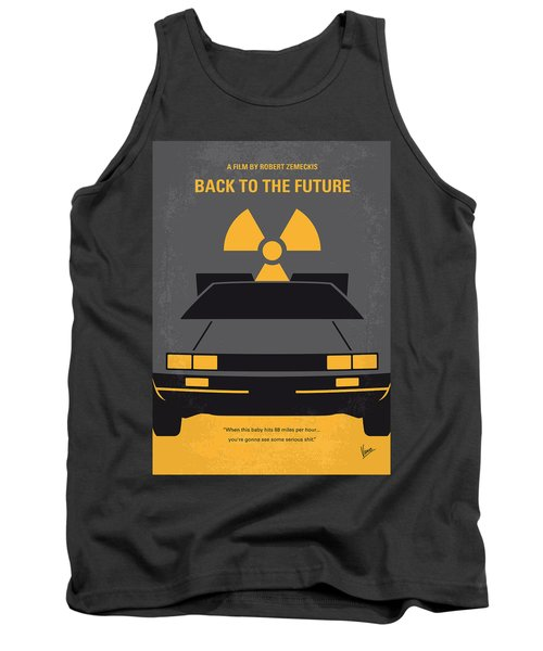 No183 My Back To The Future Minimal Movie Poster Tank Top