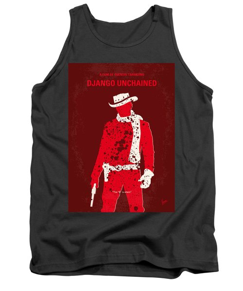 No184 My Django Unchained Minimal Movie Poster Tank Top