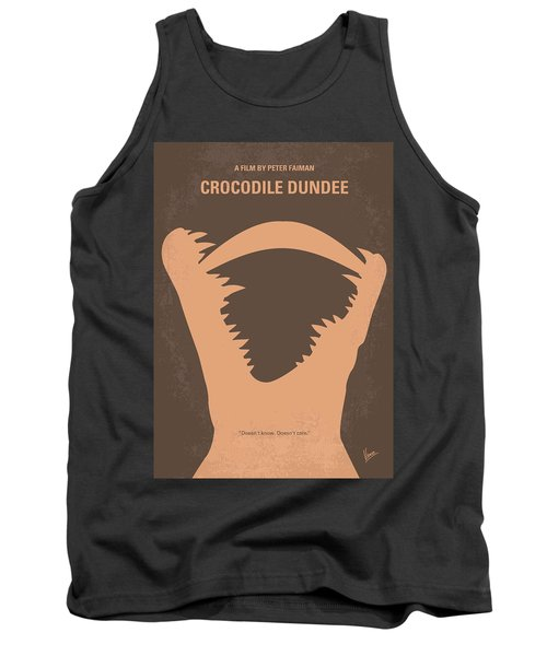 No210 My Crocodile Dundee Minimal Movie Poster Tank Top by Chungkong Art