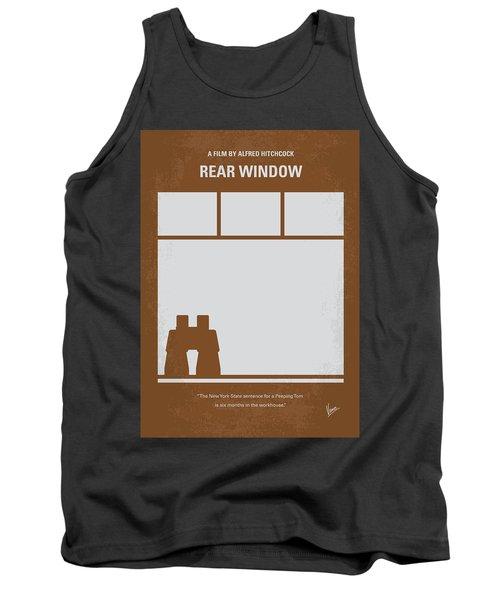 No238 My Rear Window Minimal Movie Poster Tank Top by Chungkong Art