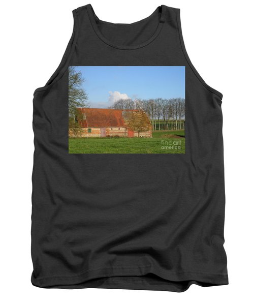 Tank Top featuring the photograph Normandy Storm Damaged Barn by HEVi FineArt