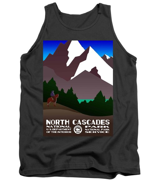 North Cascades National Park Vintage Poster Tank Top