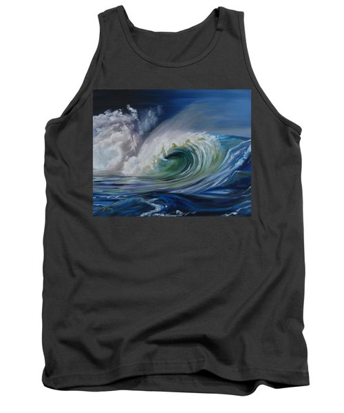 Tank Top featuring the painting North Shore Curl by Donna Tuten