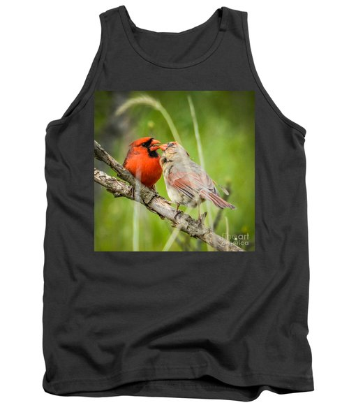 Northern Cardinal Male And Female Tank Top