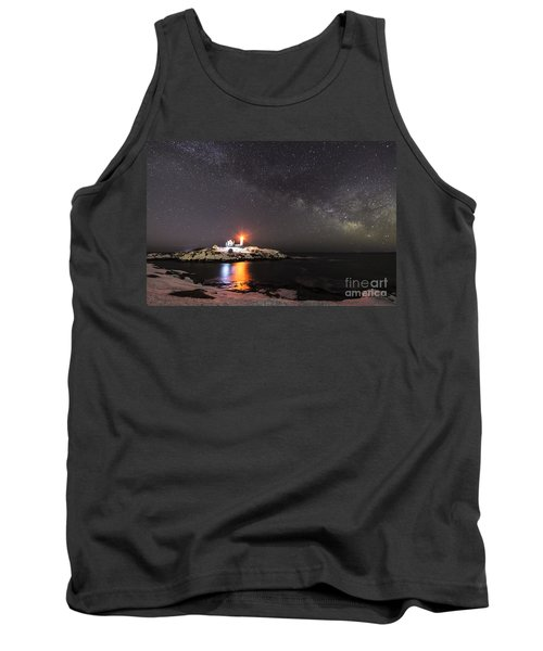 Nubble Light With Milky Way Tank Top by Patrick Fennell