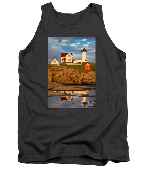 Tank Top featuring the photograph Nubble Lighthouse No 1 by Jerry Fornarotto