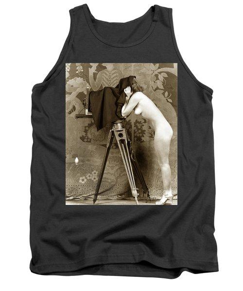 Nude In High Heel Shoes With Studio Camera Circa 1920 Tank Top